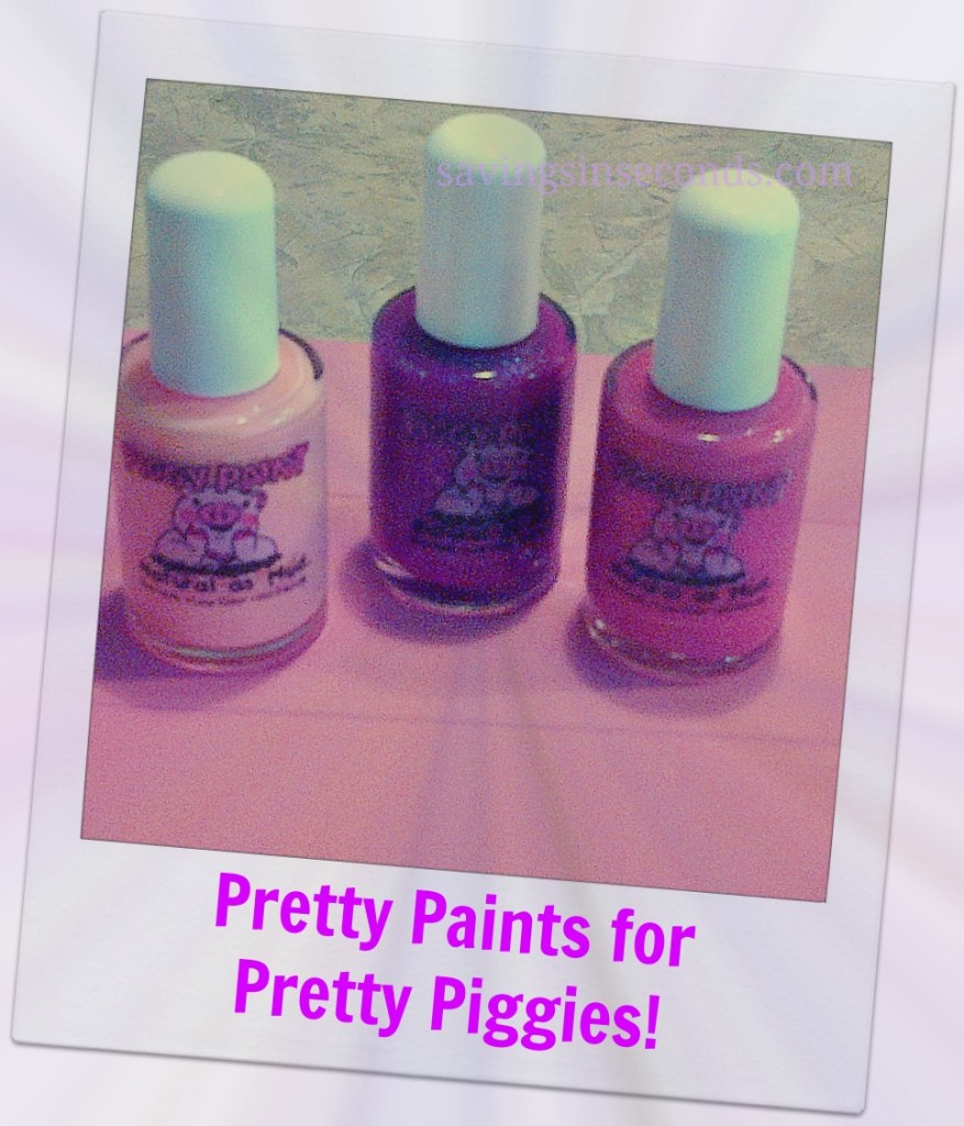 Try Piggy Paint for perfectly kissable fingers and toes.  savingsinseconds.com
