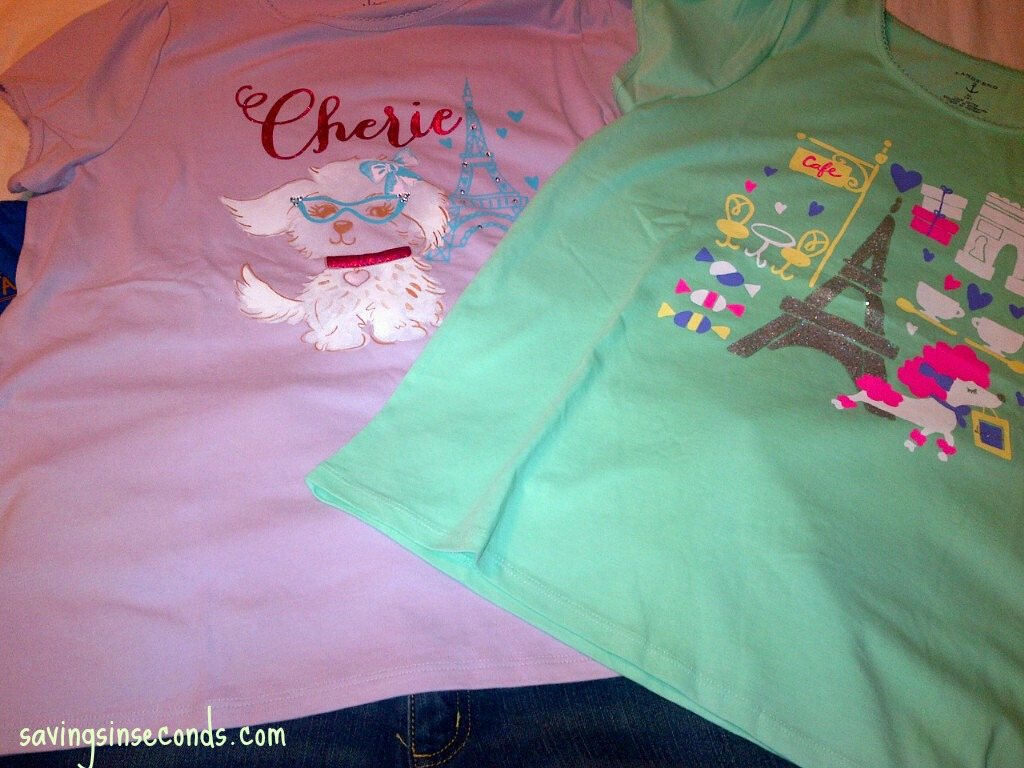Cute Lands End tops -- perfect for Back To School.  Shop through Coupons.com for a great deal!  savingsinseconds.com