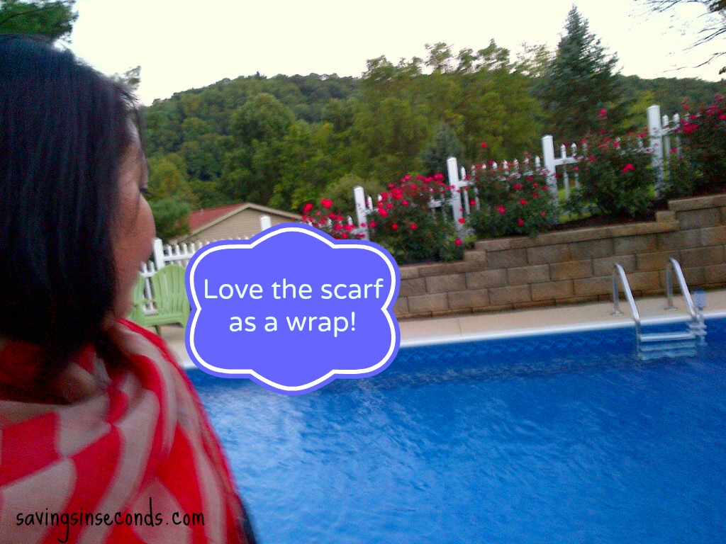 Love it when a scarf doubles as a wrap! savingsinseconds.com