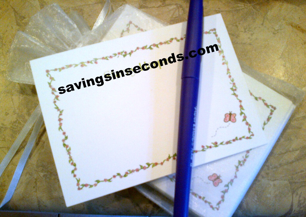 Love the beauty of a handwritten note -- savingsinseconds.com
