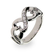 Eve's Addiction has a beautiful selection of infinity rings!  savingsinseconds.com