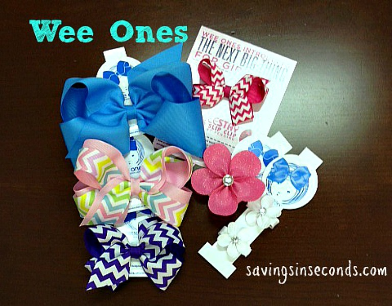 The best bows are worn in pretty hair -- Wee Ones featured on savingsinseconds.com