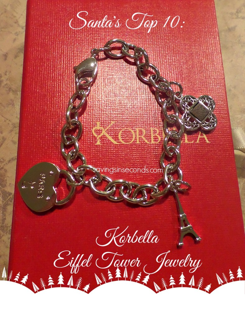 Santa's Top 10 List: Korbella Eiffel Tower jewelry -- featured on savingsinseconds.com
