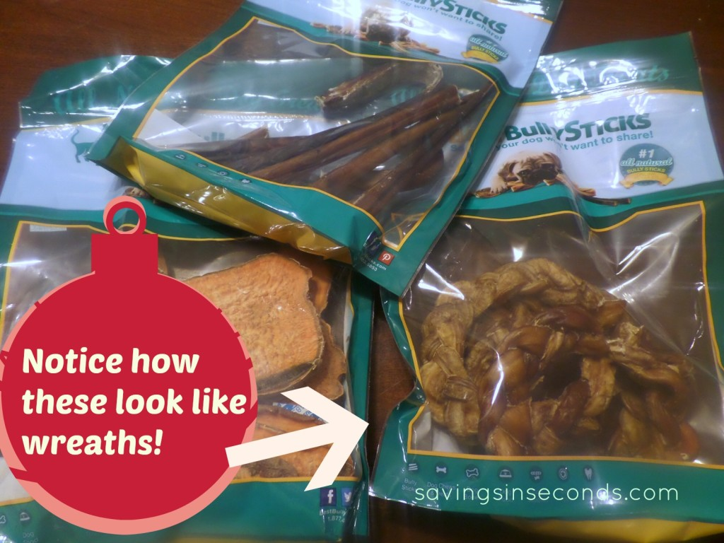 Best Bully Sticks -- make sure your dog knows she's not forgotten this holiday! savingsinseconds.com