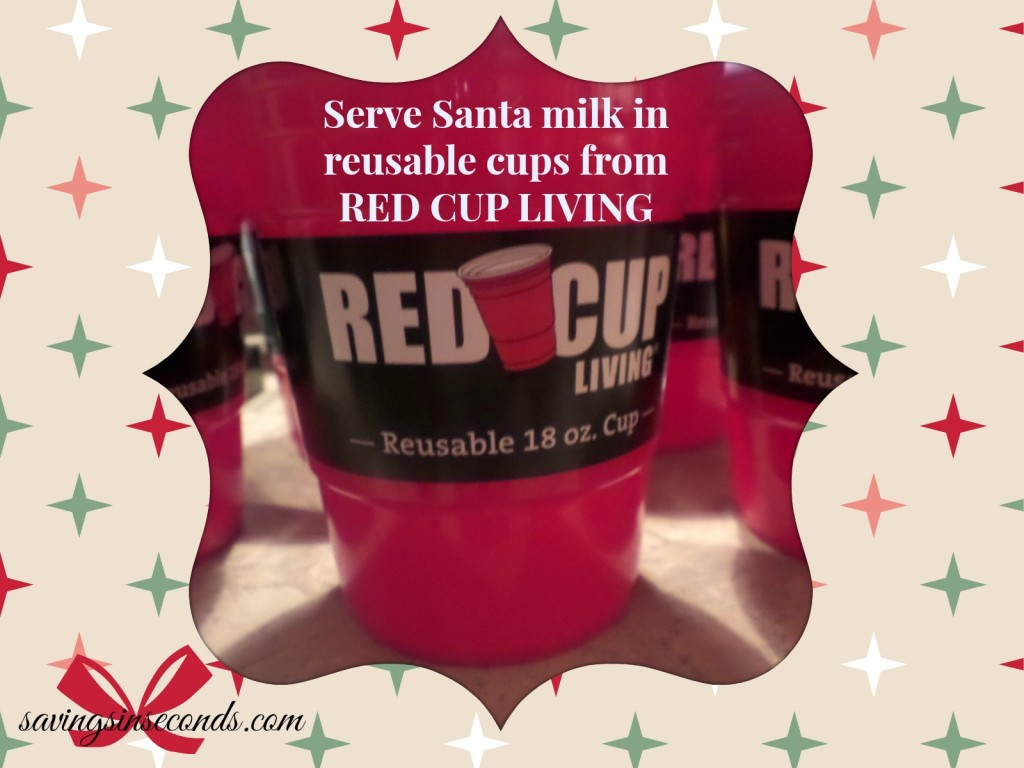 Santa would love to drink his milk from these reusable earth-friendly cups -- Red Cup Living featured on savingsinseconds.com