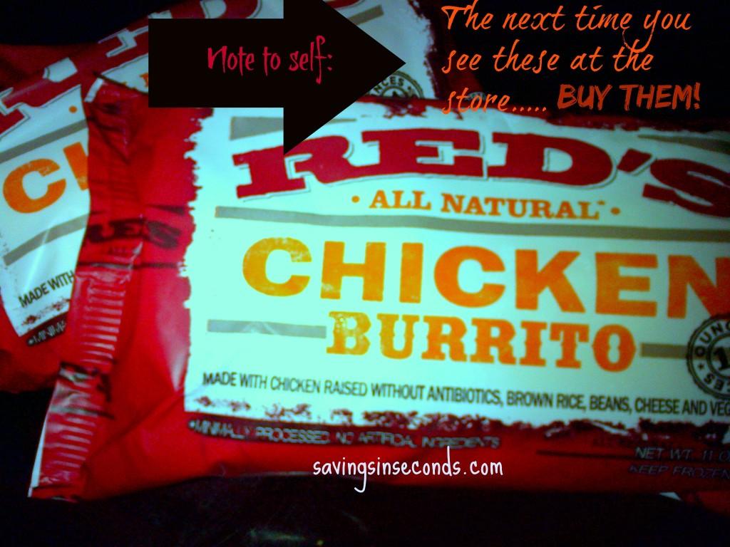 Have you tried Red's Burritos?  savingsinseconds.com