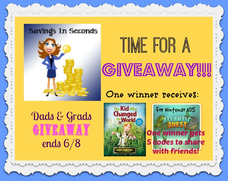 Enter the Dads and Grads giveaway - prizes from @MaxFamilyGames and @TommyNelson - ends 6/8 savingsinseconds.com