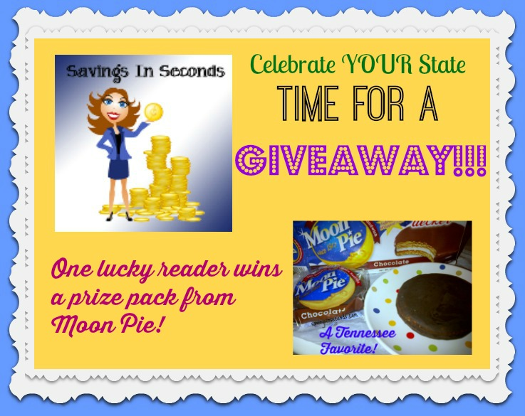 #CelebrateYourState #giveaway - enter to win a prize pack from Moon Pie! savingsinseconds.com