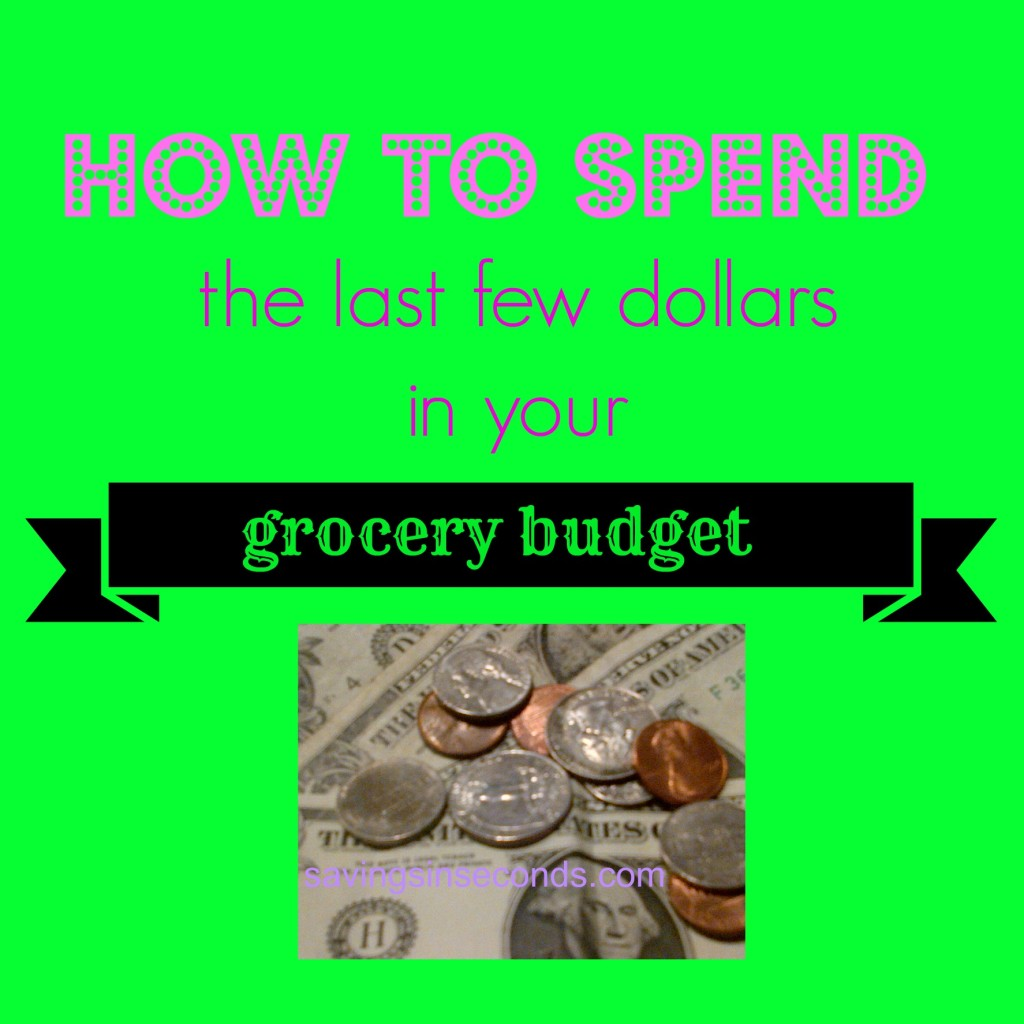 Staying within your Grocery Budget - how to spend those extra dollars  -- savingsinseconds.com