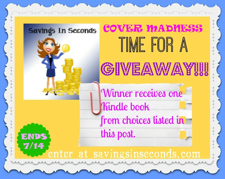 Enter the cover madness giveaway at savingsinseconds.com