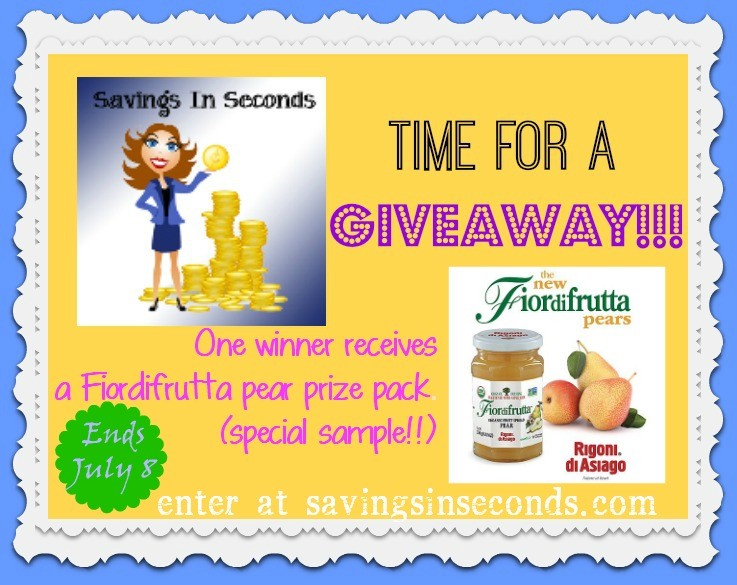 Enter to win the new PEAR prize pack from Fiordifrutta in the Luck of Liberty giveaway --- savingsinseconds.com