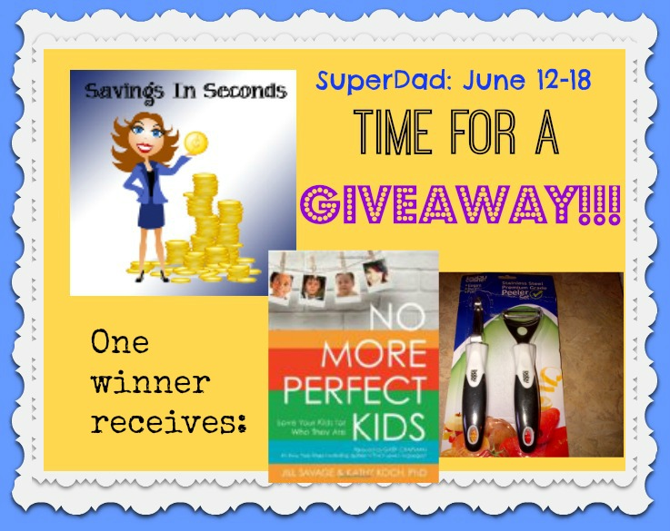 Enter the SuperDad giveaway at savingsinseconds.com