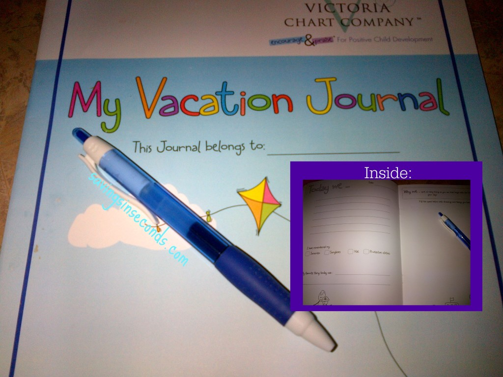 Do you take a vacation journal on your trips?  savingsinseconds.com