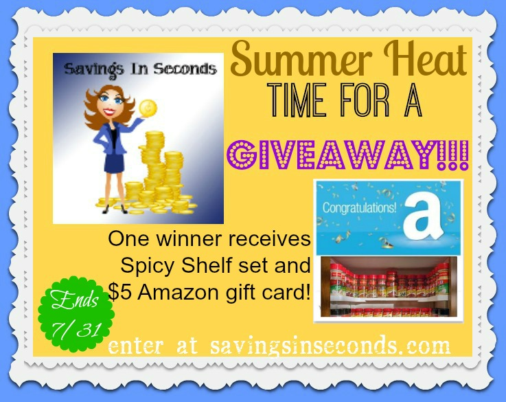 Summer Heat giveaway at savingsinseconds.com