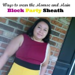 Colors of the Season: 2 ways to wear a Monroe and Main colorblock dress + GIVEAWAY!!