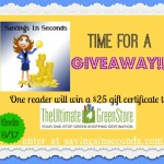 Ultimate Green Store $25 giveaway * ends 8/17
