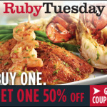 Limited time: New Printable BOGO Coupon for Ruby Tuesday + $25 GIVEAWAY