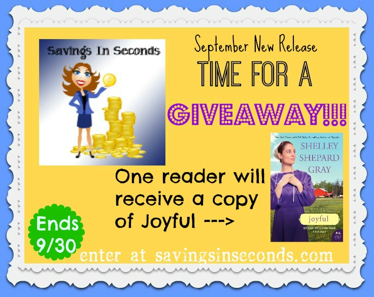 Enter the September New Release #giveaway for a chance to win Joyful ---> savingsinseconds.com