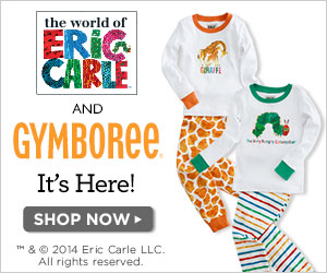 Eric Carle collection at Gymboree -- featured on savingsinseconds.com