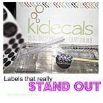 Need labels that really stand out? Check out Kidecals + DISCOUNT