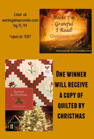 Books I'm grateful I read giveaway -- enter at savingsinseconds.com
