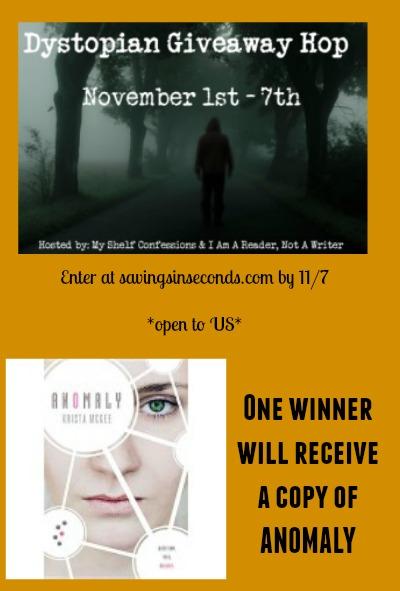 Enter the Dystopian Hop giveaway -- savingsinseconds.com