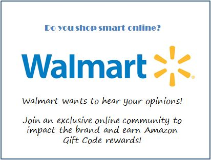 #ad Walmart is looking to invite digitally savvy shoppers who often use their mobile/electronic devices to shop smart into their exclusive online community! Earn Amazon gift codes for sharing your unique feedback and opinions. (sponsored)