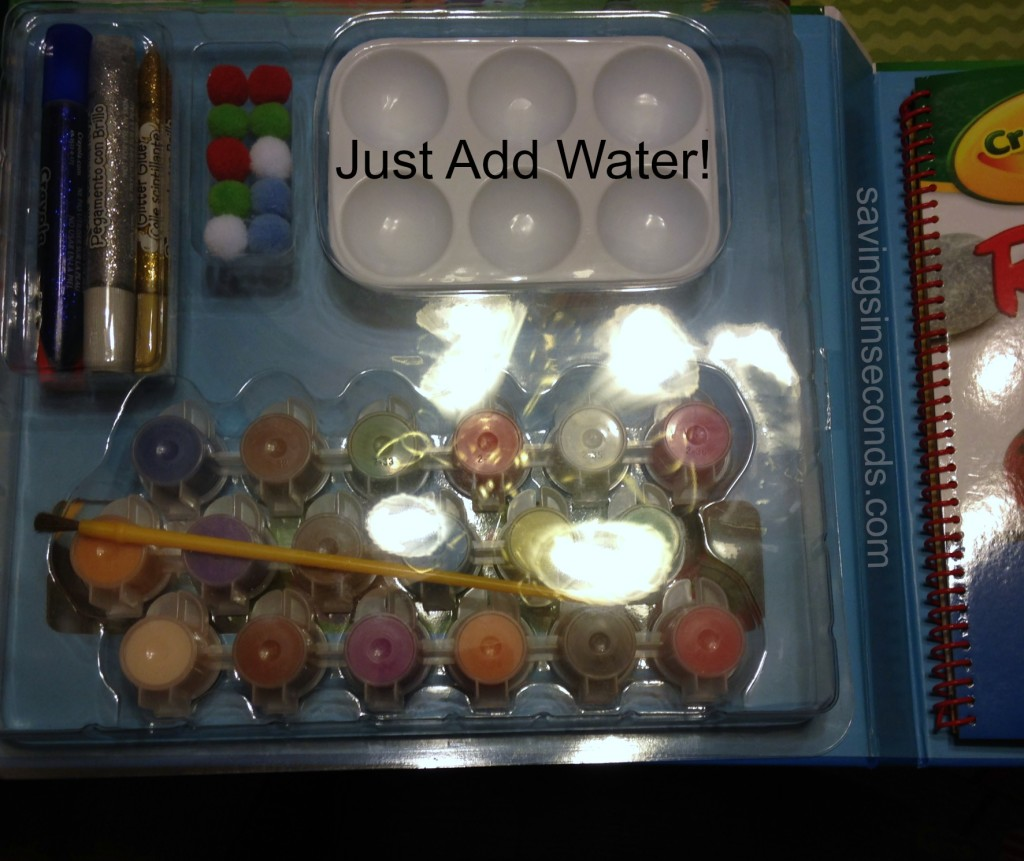Crayola Rock Painting book kit - savingsinseconds.com #giftguide