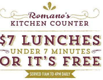 #ad printable coupon for Romano's Kitchen Counter!  Valid through 1/31/15 savingsinseconds.com