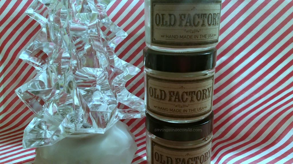 Enter to win a set of Old Factory candles - ends 12/30 savingsinseconds.com
