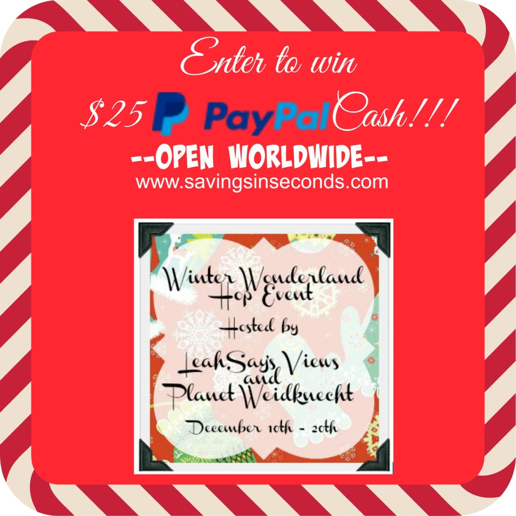 $25 Paypal Cash winter wonderland #giveaway - enter at savingsinseconds.com