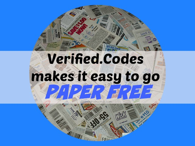 Verified Codes makes it easy to go paper free. #ad savingsinseconds.com