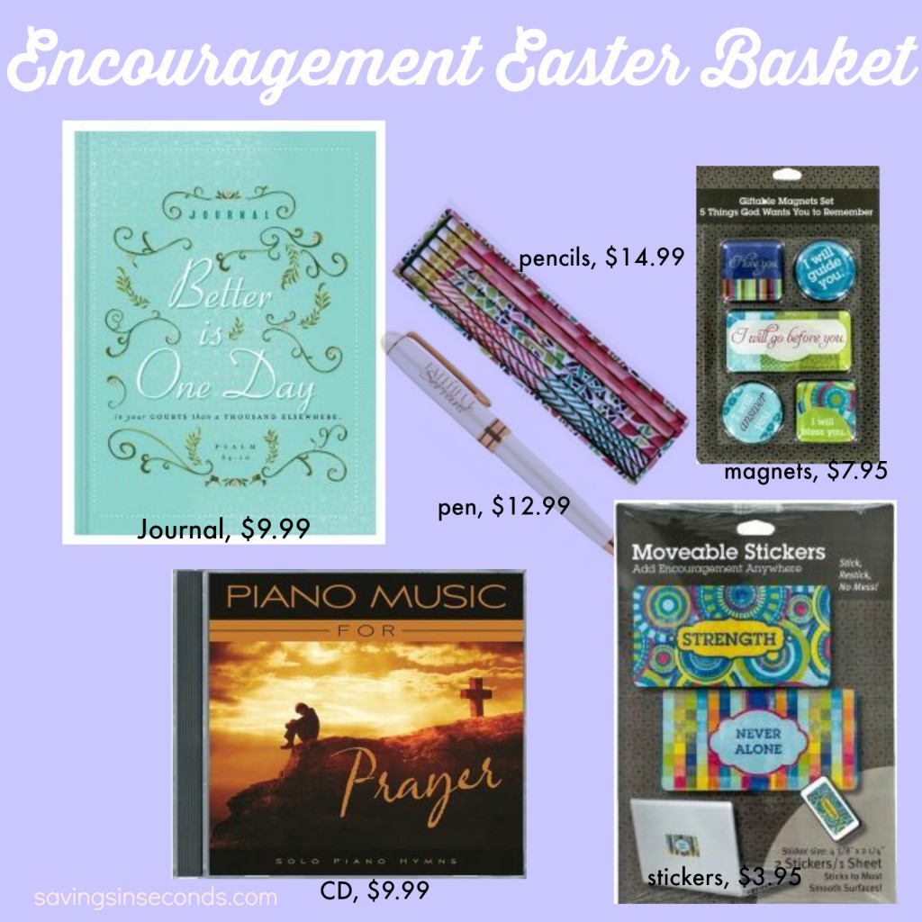 Encouragement Easter Basket - #FCevents savingsinseconds.com
