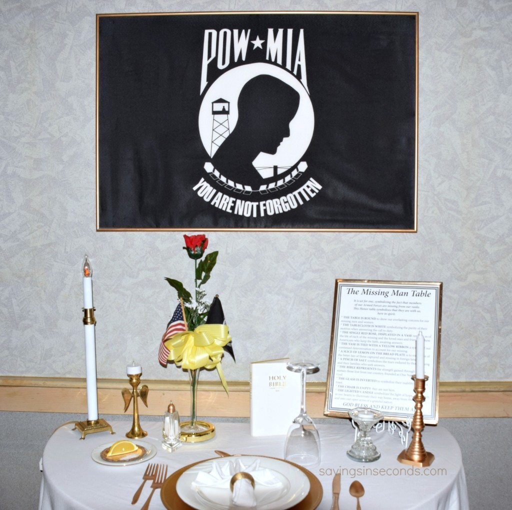 Missing Man table at Ryan's - featured on savingsinseconds.com