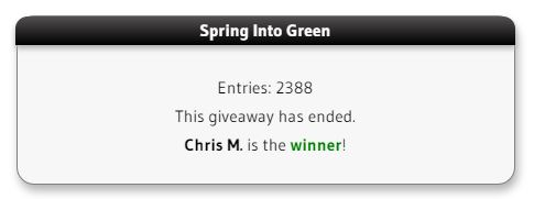 Spring into green winner
