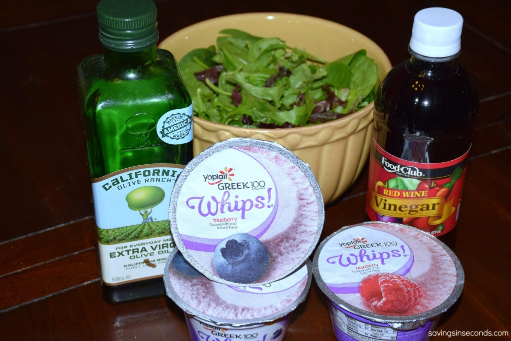 Creamy Blueberry Vinaigrette - easy recipe with only 3 ingredients. #GF #WhipItUp #ad https://ooh.li/c6fb5ba