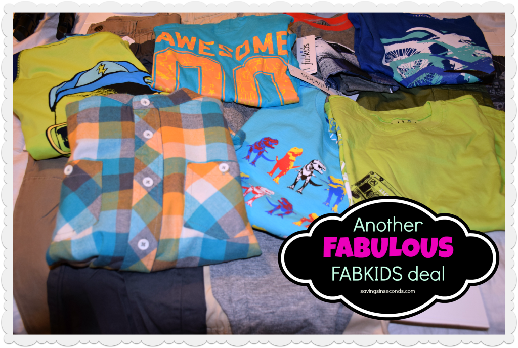 FabKids has fabulous deals - check it out!  I got all this for $19.95 shipped.  savingsinseconds.com