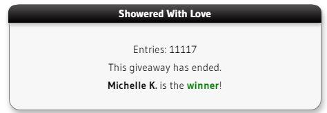 Showered With Love winner