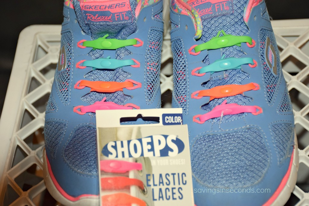 Try Shoelace Bands when you want to dress up a pair of sneakers. Great for kids! savingsinseconds.com #giveaway