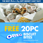 Mother's Day – FREE #oreobiscuitbites at Church's Chicken and Cricut deals