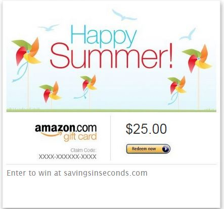 Enter to win a $25 Amazon gift card - savingsinseconds.com