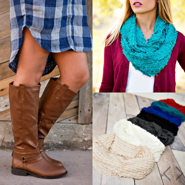 boots and scarves combo - FREE Shipping