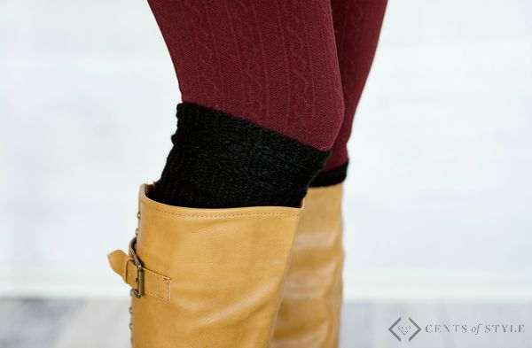 Boot cuffs - just $2.99 with purchase.