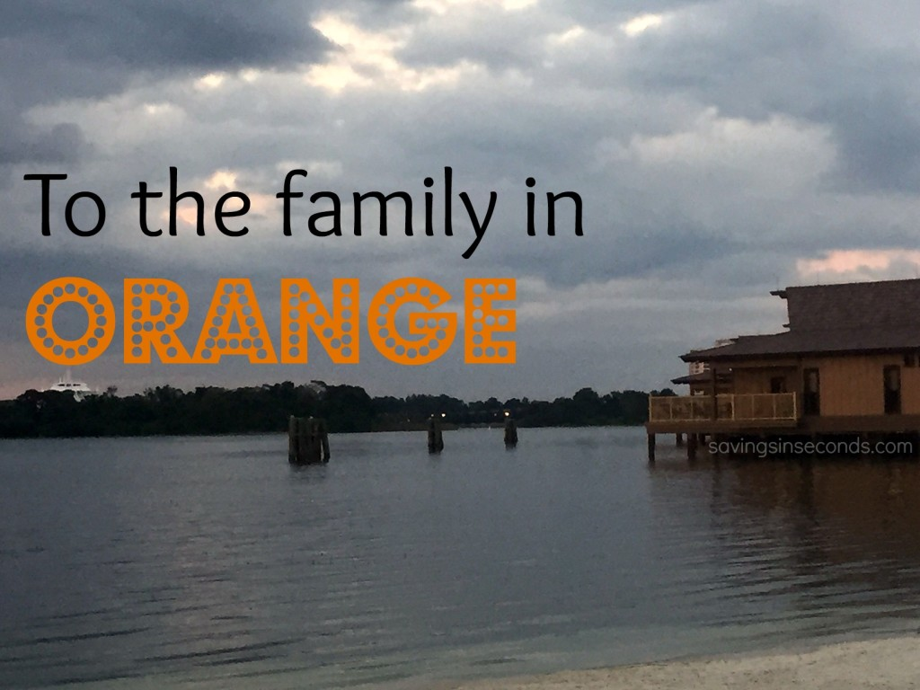 To the family in orange - I prayed for Alex.