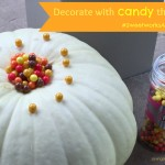 Decorate your pumpkin with candy this fall