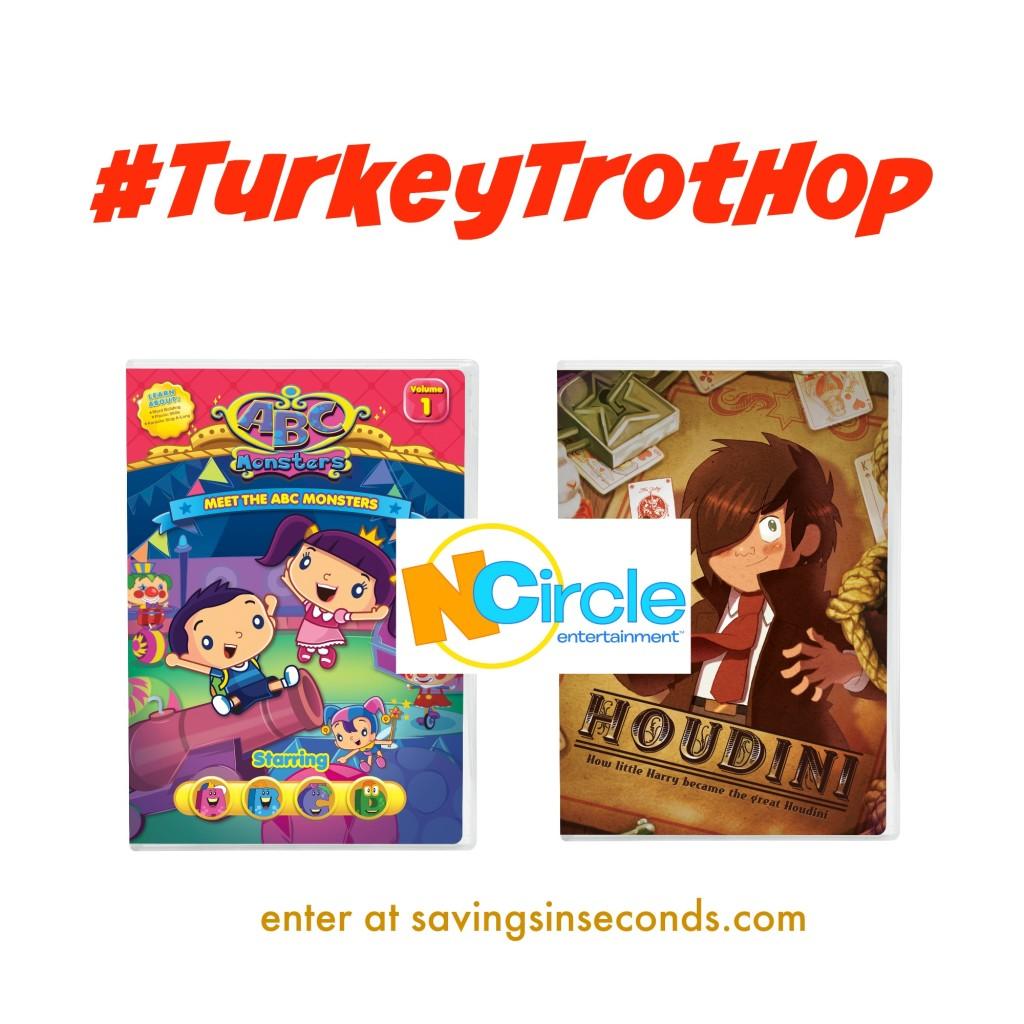#TurkeyTrotHop #giveaway featuring NCircle DVDs. Enter at savingsinseconds.com