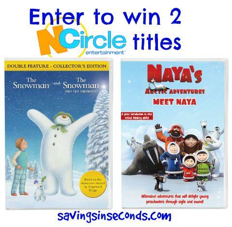 NCircle giveaway featuring The Snowman and Meet Naya - savingsinseconds.com