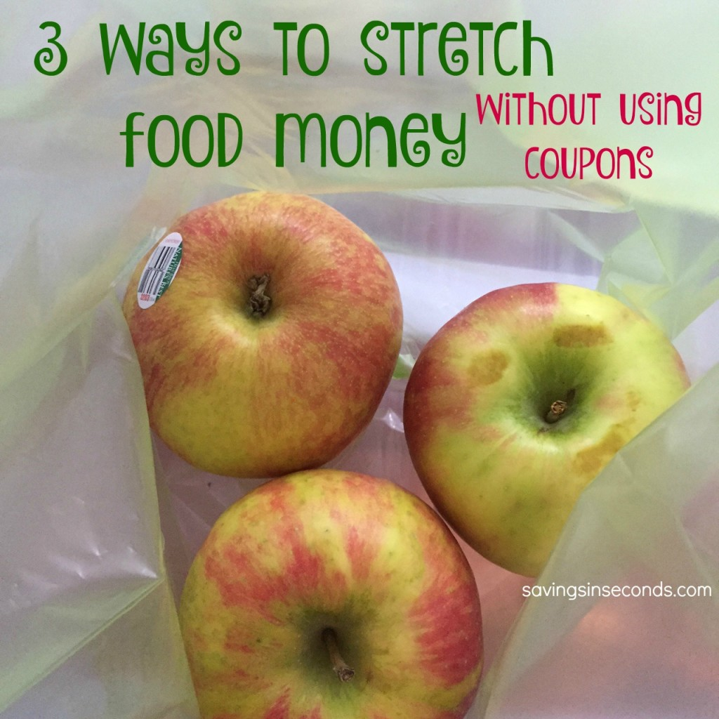 Ways to stretch food money without using coupons - #giveaway savingsinseconds.com