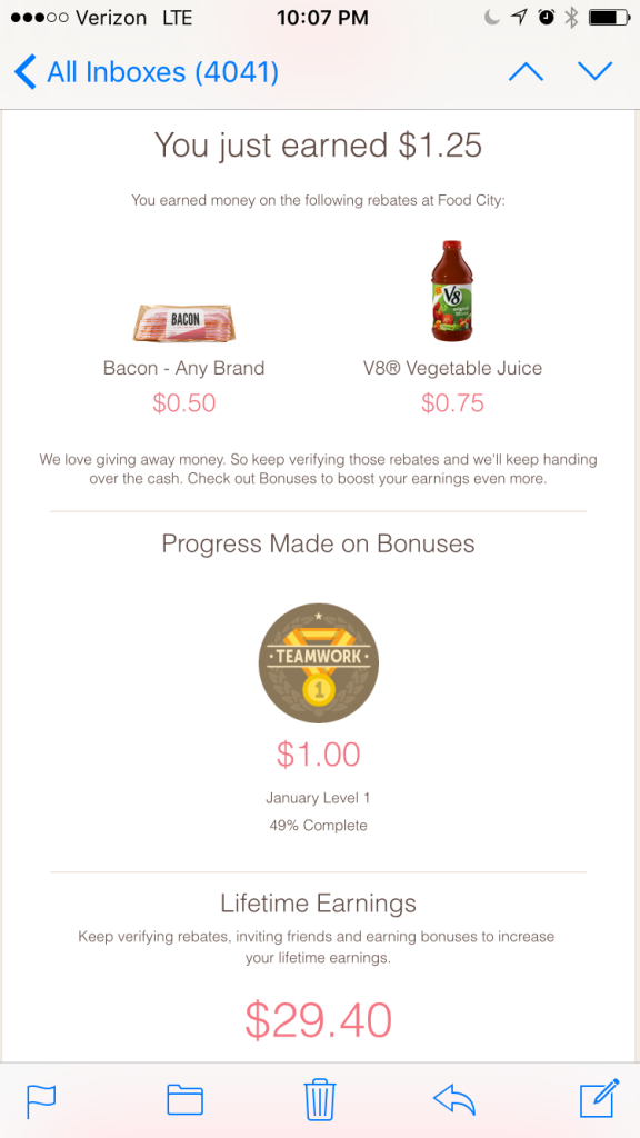 iBotta is my favorite app - look what I've already earned! Save money without using coupons. savingsinseconds.com #referral