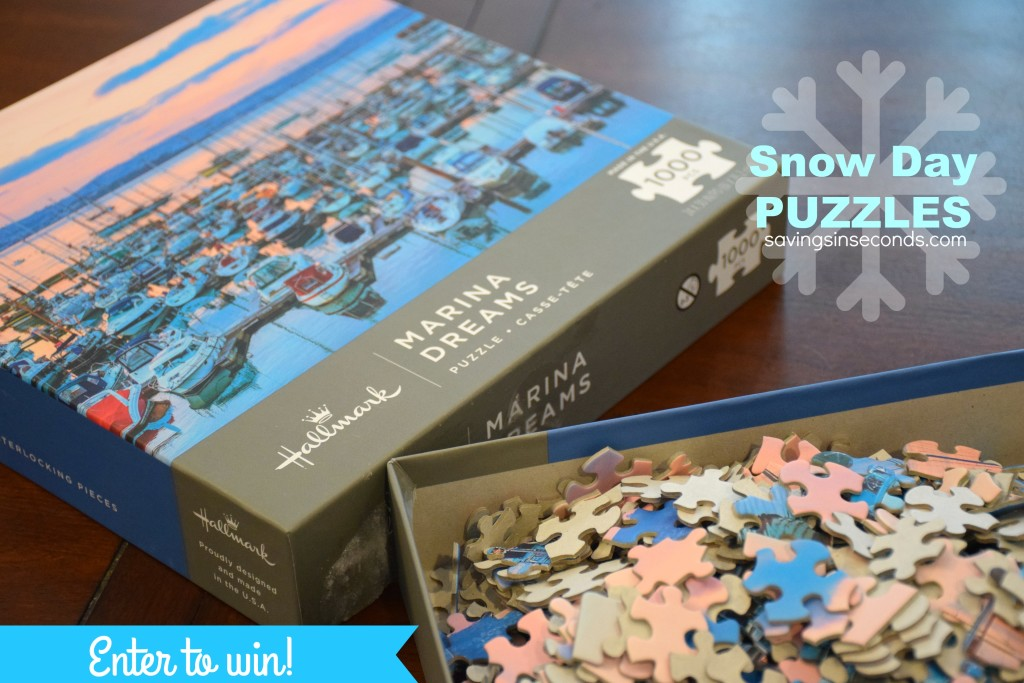 #LoveHallmark makes great puzzles for adults - snow day #giveaway savingsinseconds.com